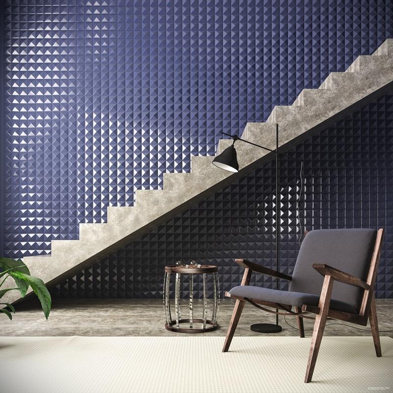 Revestimento ceramico azul. Ambientes Coloridos Foram Sinônimos de Sofisticação na Feira de Milão e na Expo Revestir 2017