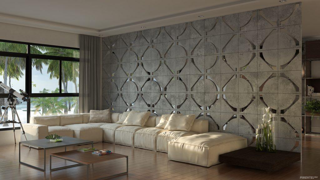 cobogó concreto Palazzo modelo Angolo formato 40x40