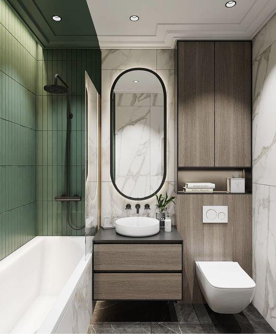 39 banheiros pequenos para você se inspirar