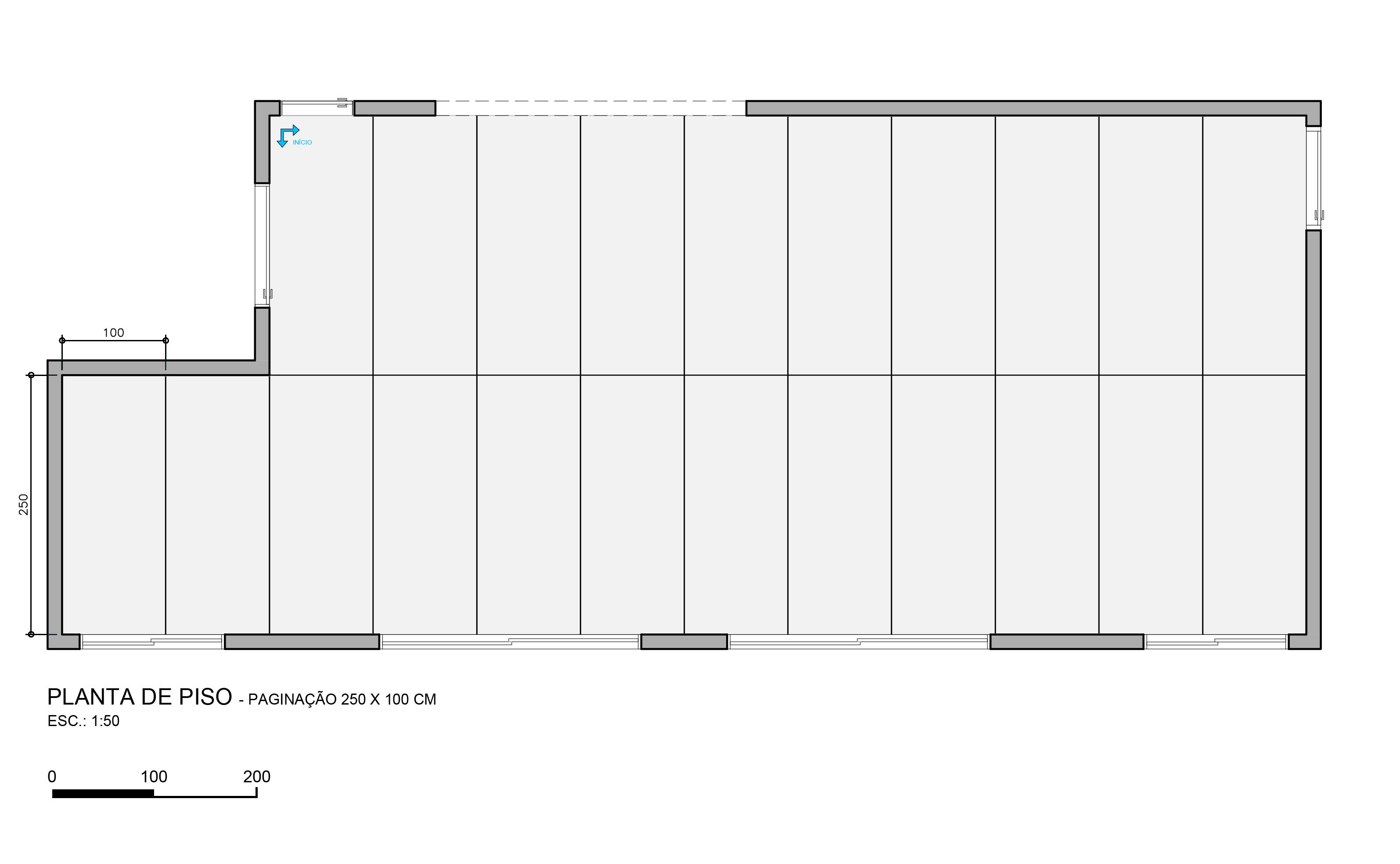 Casa Vogue: Pisos e revestimentos em maxi formatos : saiba como usar Planta com piso 2,5 x 1 m do escritório Oficina 11:11