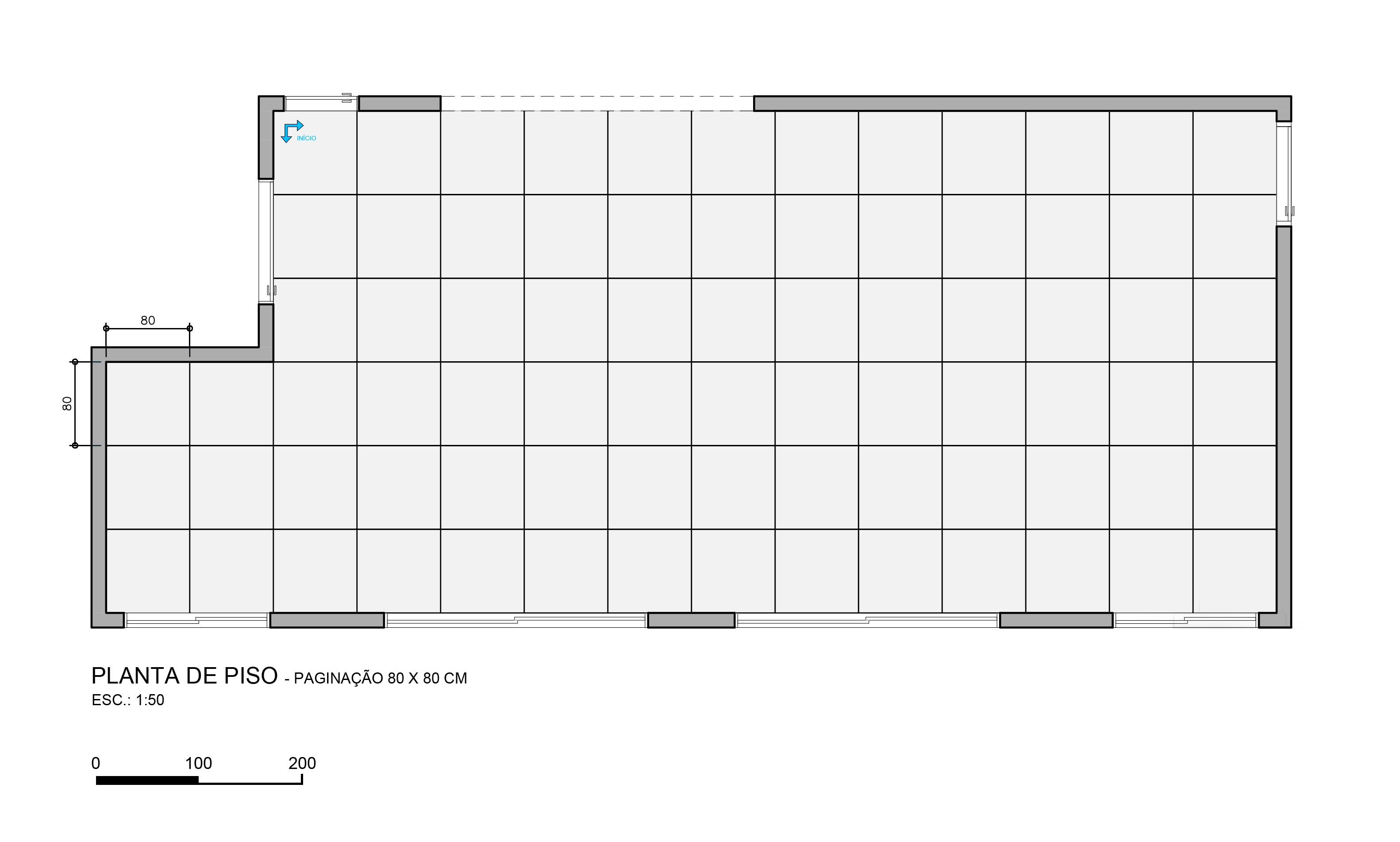 Casa Vogue: Pisos e revestimentos em maxi formatos : saiba como usar Planta com piso 80 x 80 cm do escritório Oficina 11:11
