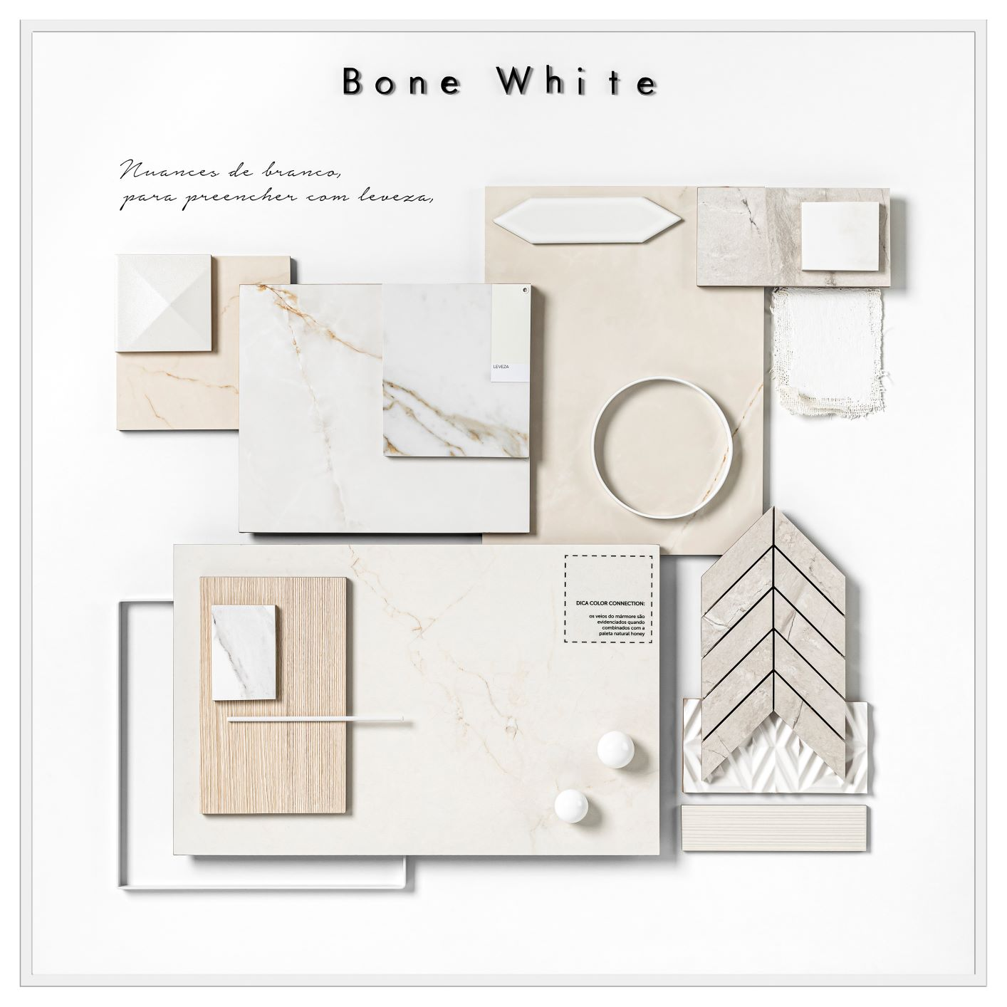 mood board Bone White