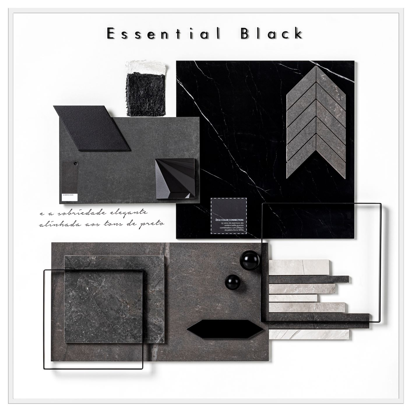 mood board essential black
