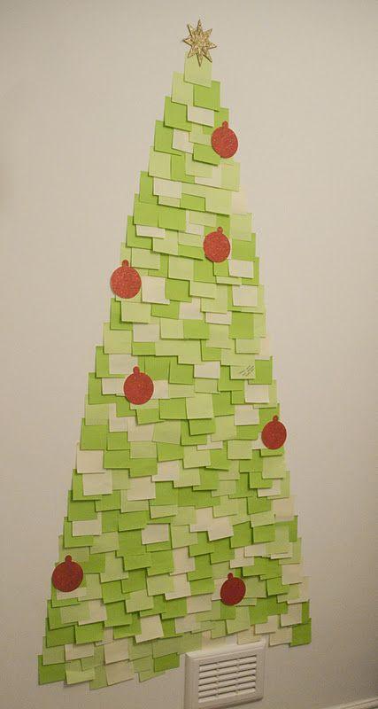 Árvore de Natal com Post-its