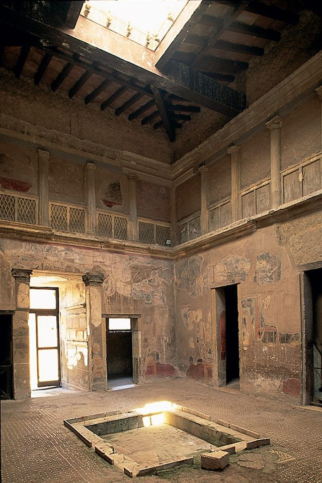 Interior de uma casa em Herculaneum.