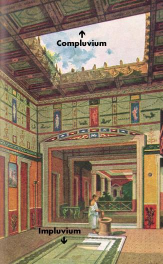 Interior de uma casa em Herculaneum