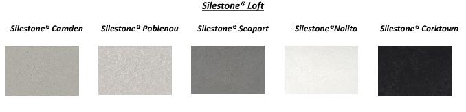 Paleta de cores Silestone Loft