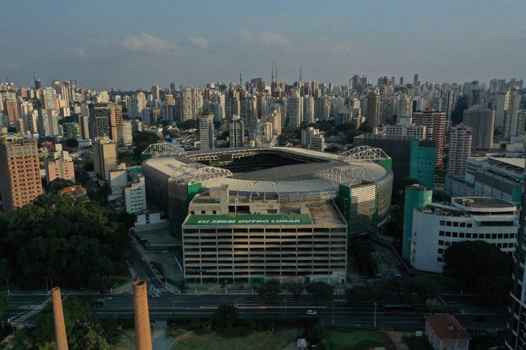 Vista aérea do Parque Mirante